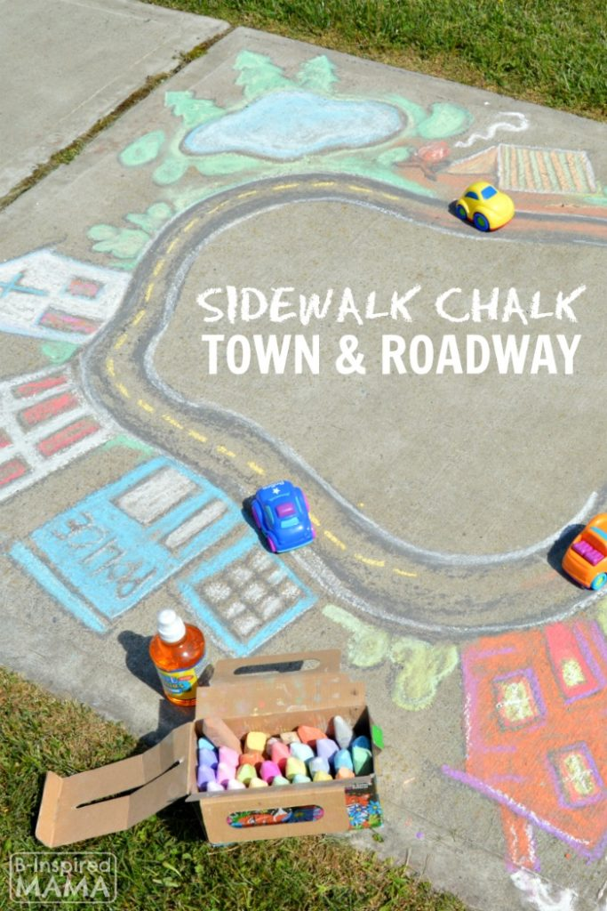 Giant Chalk Art Town