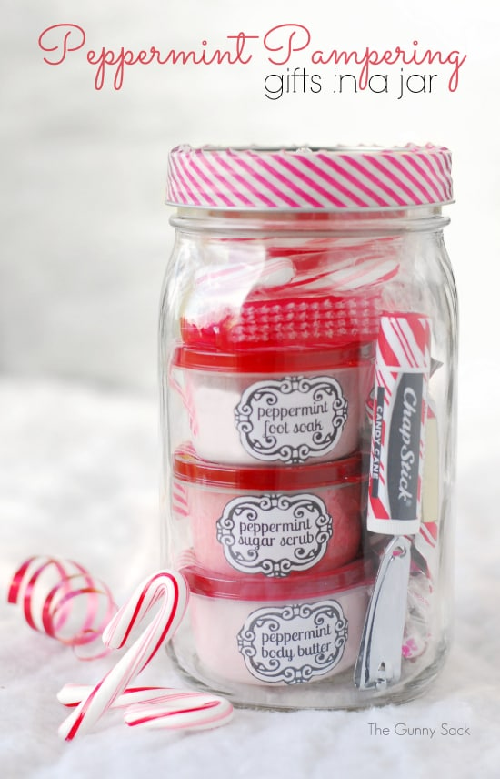 Gifts in a jar for christmas
