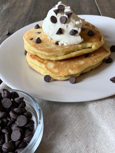 Keto Chocolate Chip Pancakes
