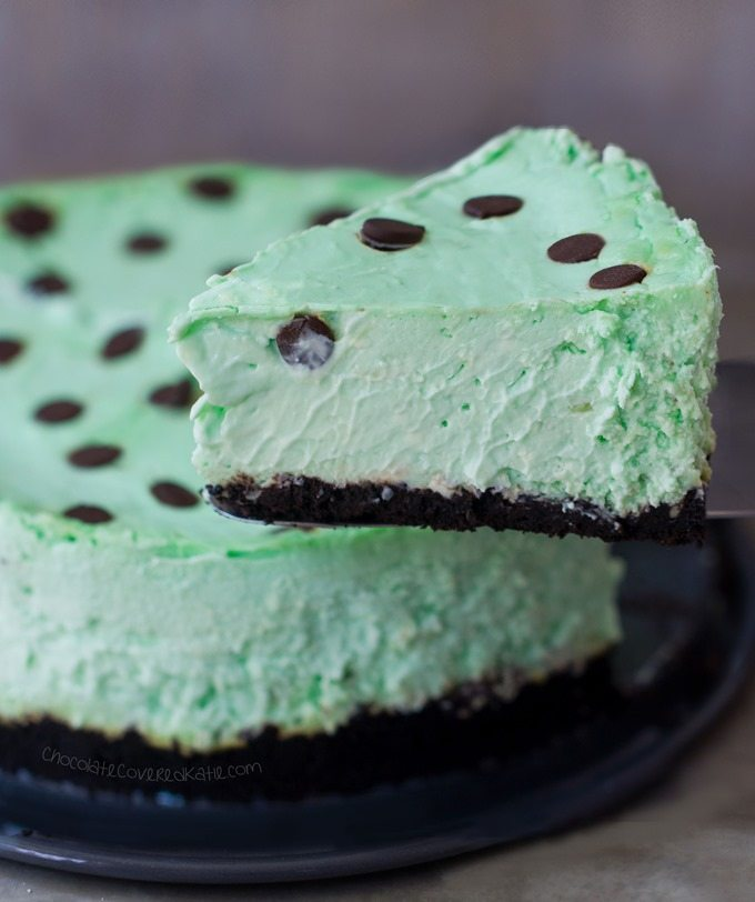 Low Carb Thin Mint Cheesecake