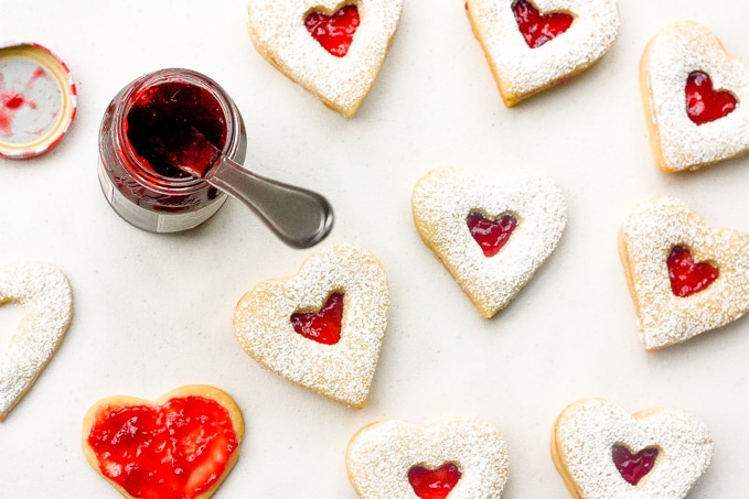 Raspberry & White Chocolate Shortbread Cookies