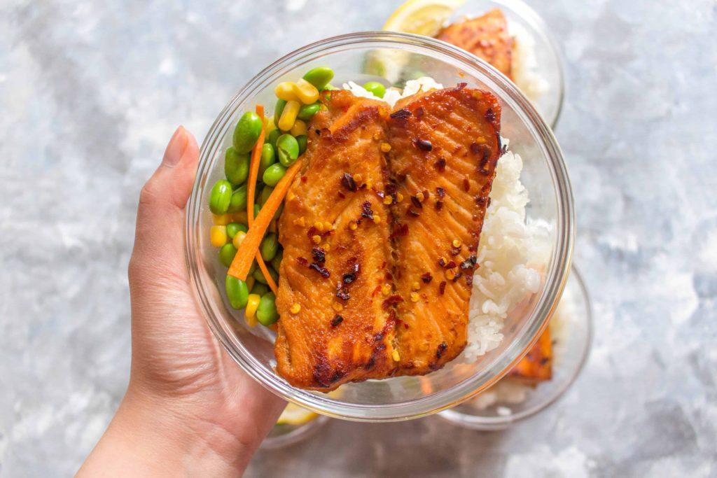 Sweet Chili Salmon Meal Prep