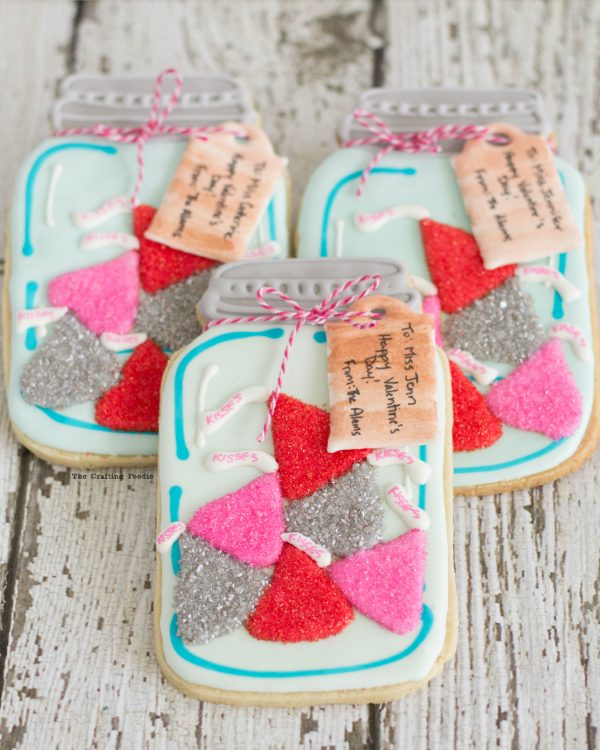 Valentines Day DIY Mason Jar Cookies