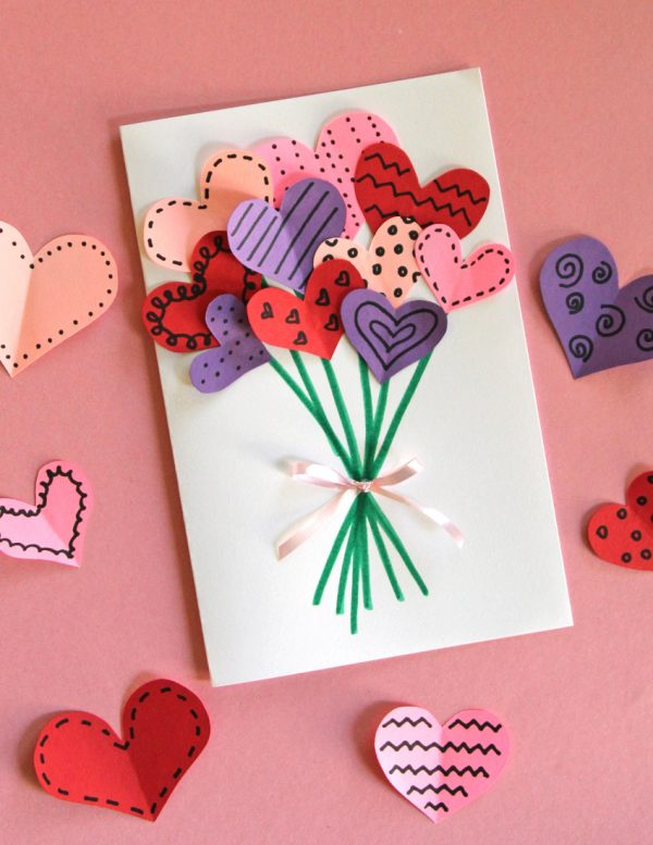 Bouquet of Hearts Card for Valentine's Day