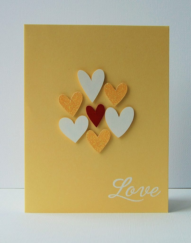 Cluster Of Hearts Valentine's Card