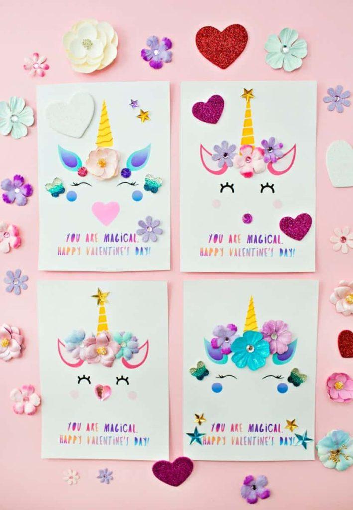 DIY Unicorn Valentines Card