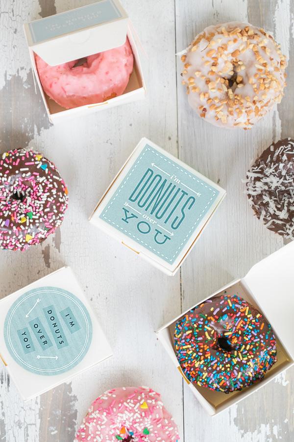 Donuts Box Valentine's Day Printable
