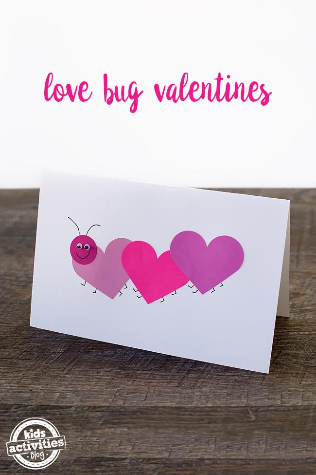 Easy Love Bug Valentine's Day Card