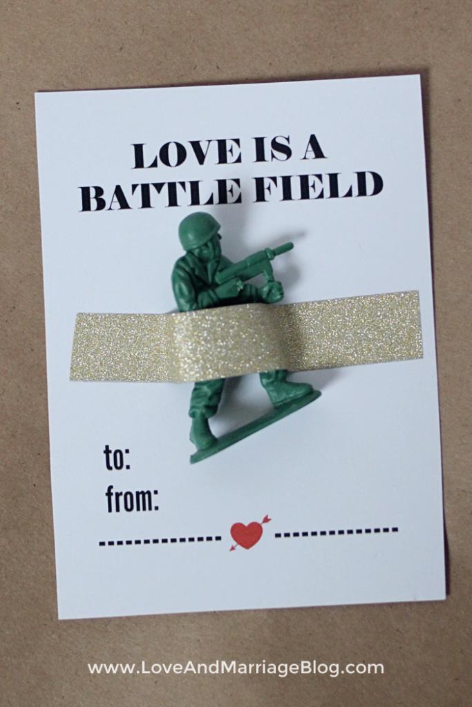 Love Is A Battlefield Printable Card