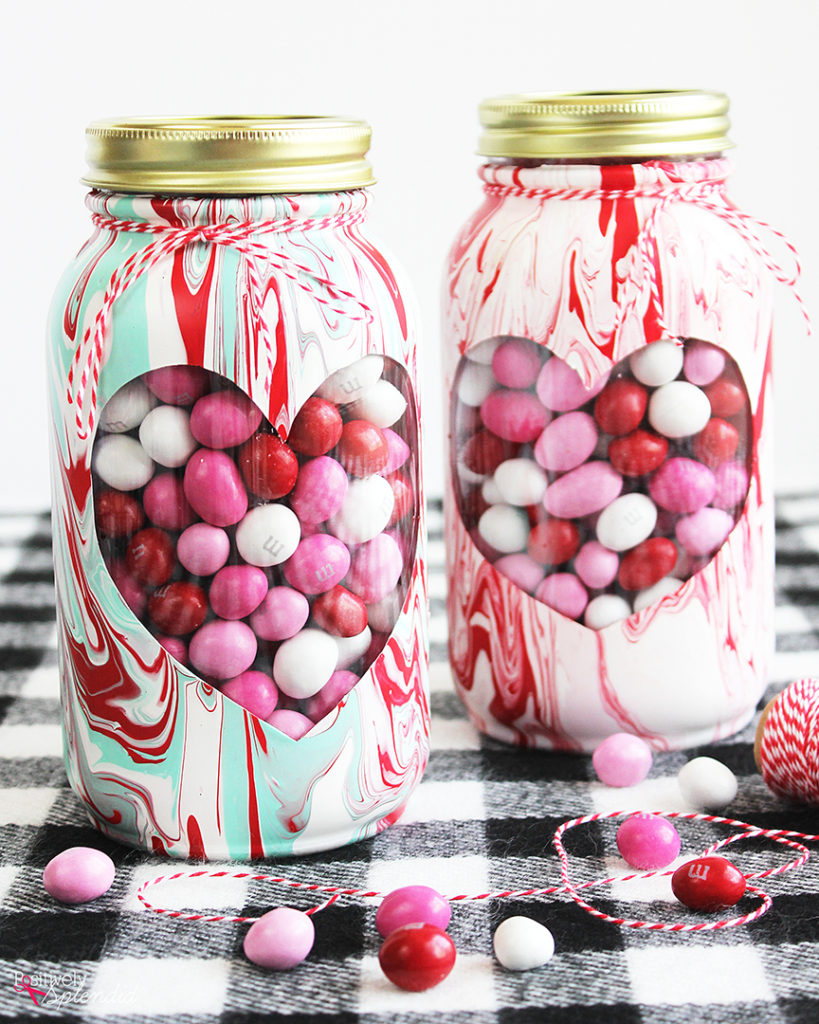 Mason Jar DIY Valentine Gift