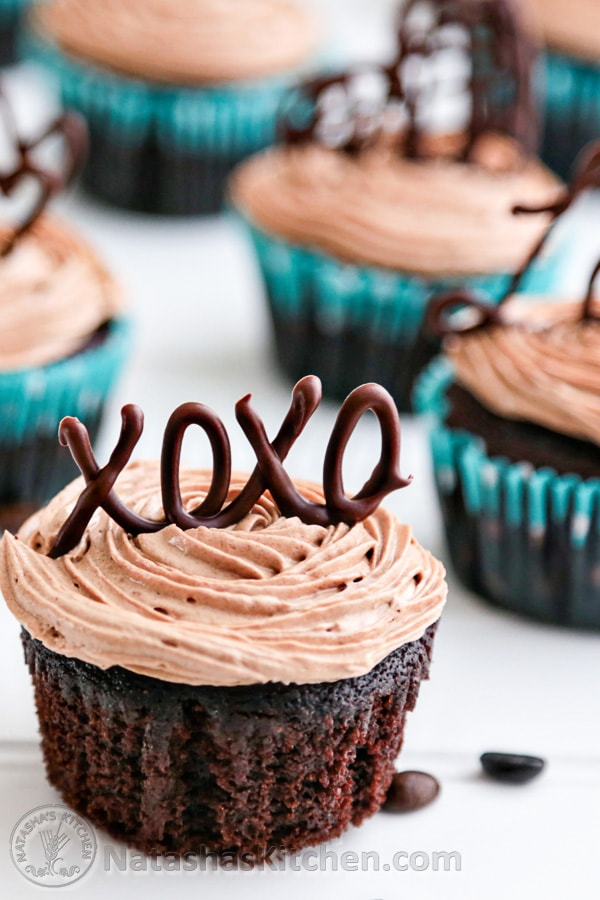 Moist Chocolate Cupcakes with Prague Frosting