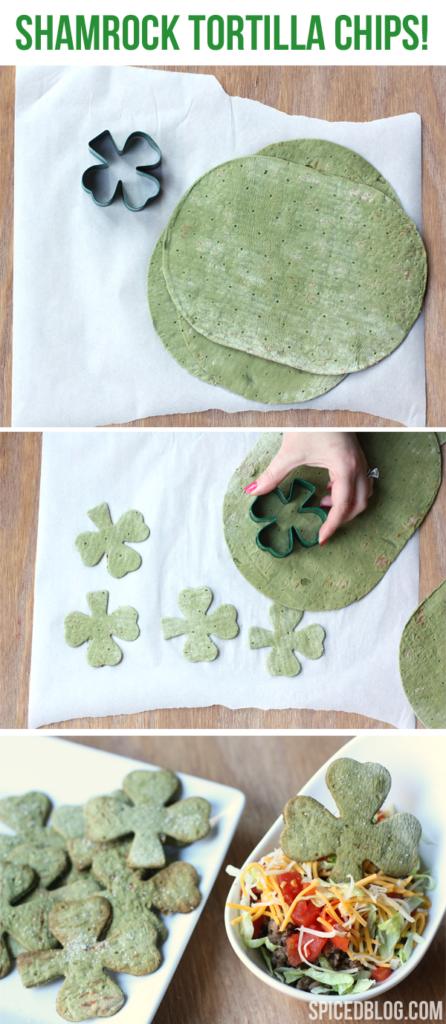 St. Patrick's Day Shamrock Tortilla Chips