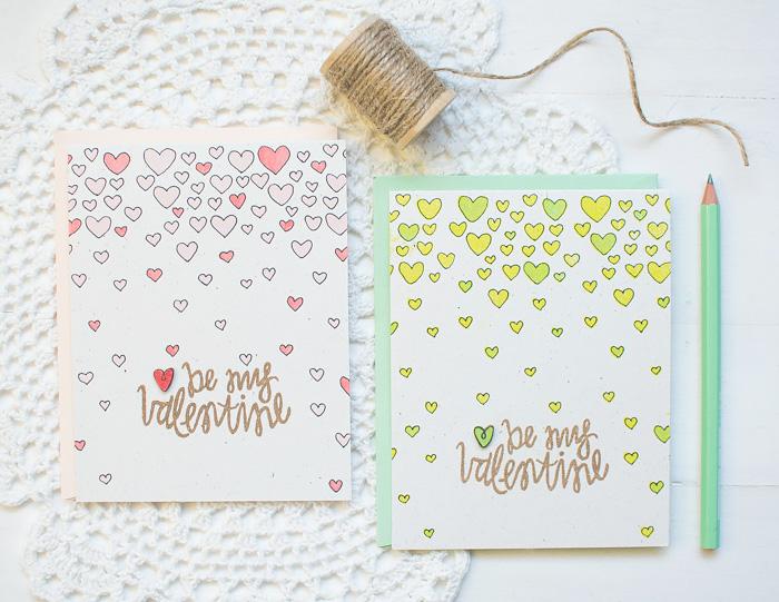 Stamped Valentine's Cards