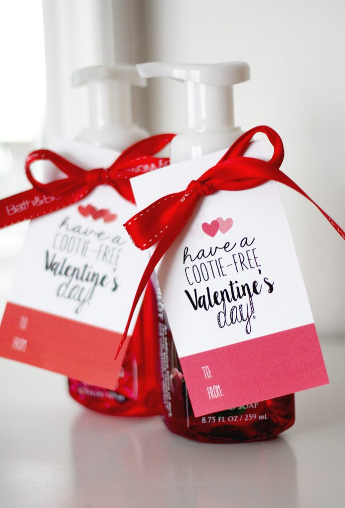 Valentine's Day Cootie Free Tags