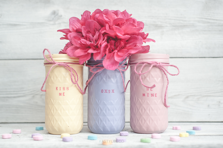 Valentine's Day Mason Jar Decor