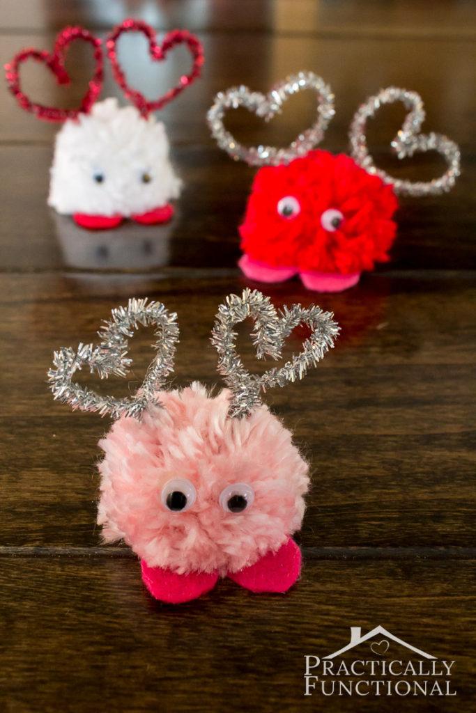 Valentine's Day Pom Pom Monsters