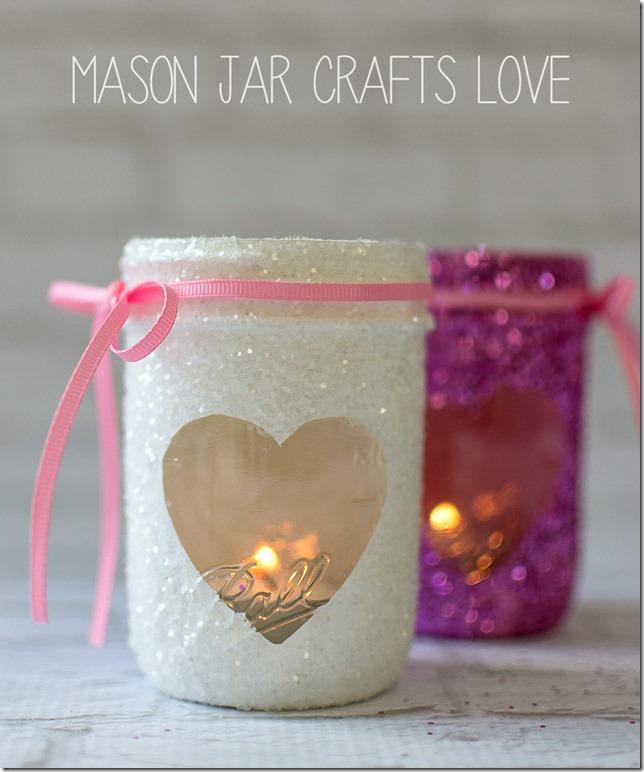 Valentine's Mason Jar Candles