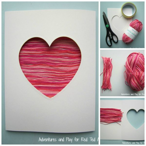 Yarn Heart Card for Valentines